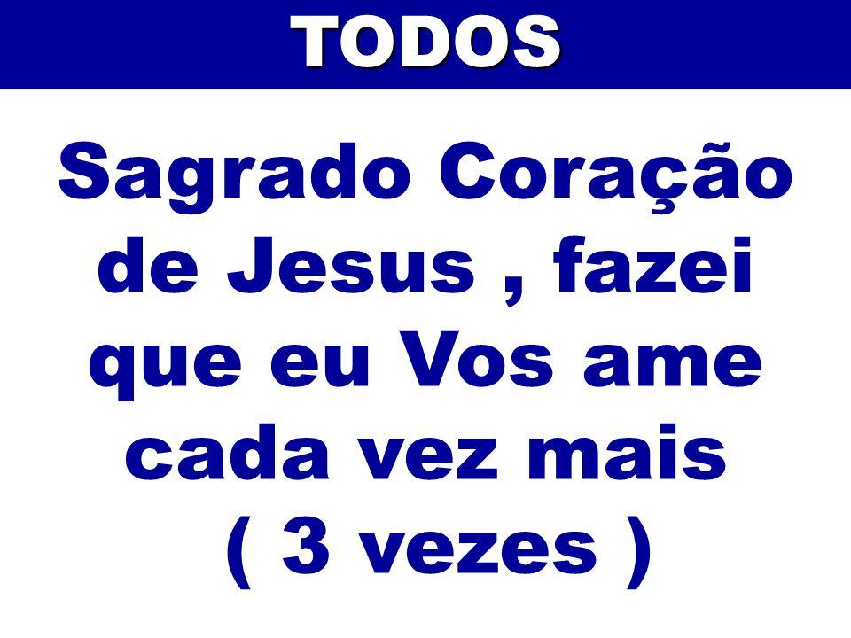 Sagrado Coração de Jesus, fazei que eu Vos ame cada vez mais ( 3 vezes )TODOS
