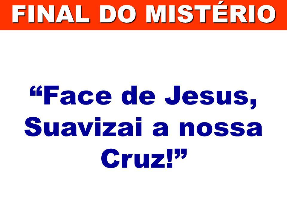 Face de Jesus, Suavizai a nossa Cruz! FINAL DO MISTÉRIO