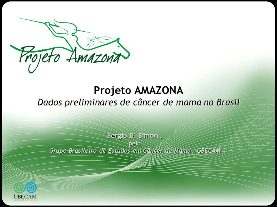 1 Projeto AMAZONA Dados preliminares de câncer de mama no Brasil Sergio D. Simon, pelo Grupo Brasileiro de Estudos em Câncer de Mama – GBECAM