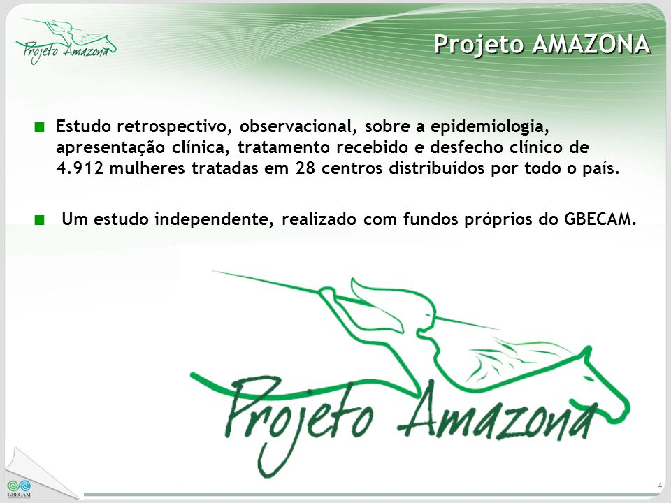 4 Projeto AMAZONA Estudo retrospectivo, observacional, sobre a epidemiologia, apresentação clínica, tratamento recebido e desfecho clínico de 4.912 mu