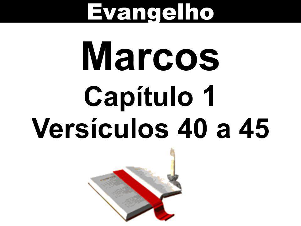 Marcos Capítulo 1 Versículos 40 a 45 Evangelho