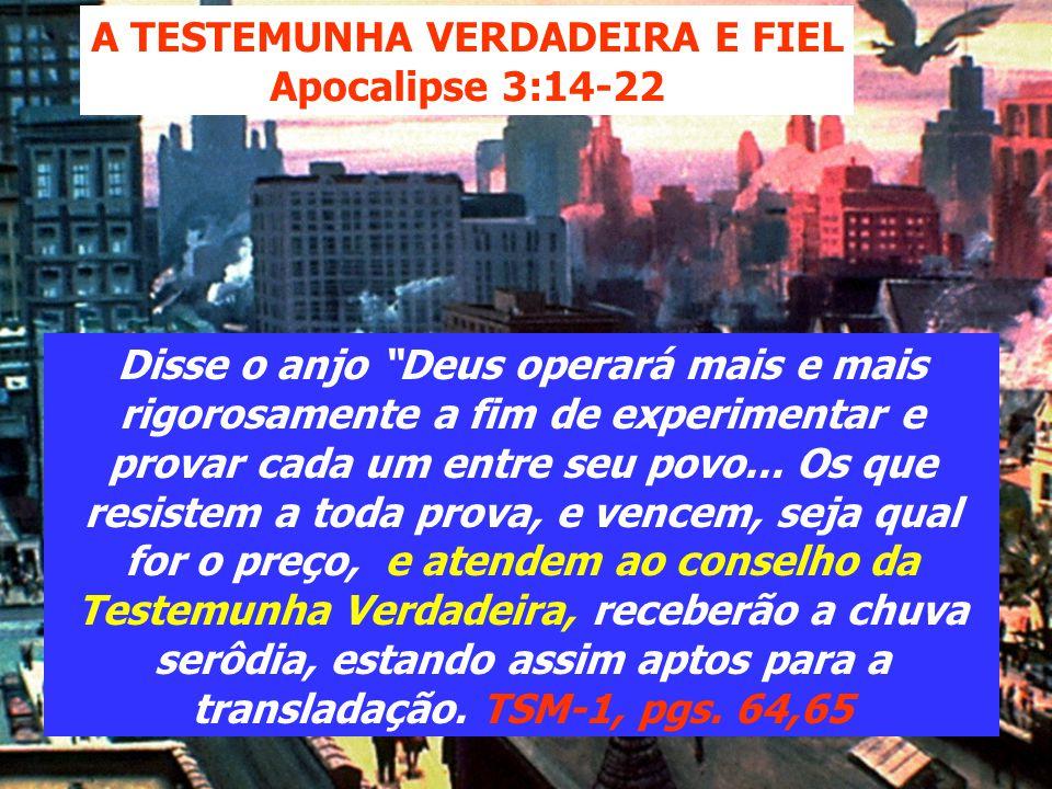 4ª CAUSA Haverá uma sacudidura entre o povo de Deus; isto, porém não é a verdade presente a levar às igrejas. Será o resultado de recusar a verdade ap