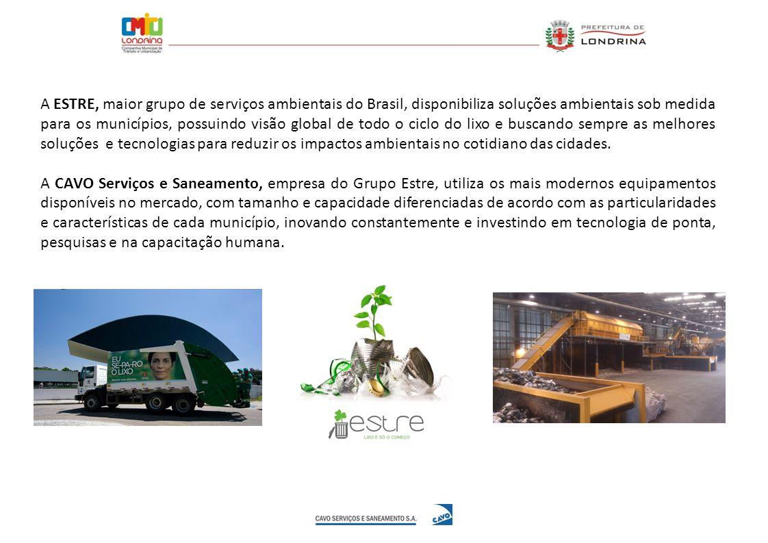 A ESTRE, maior grupo de serviços ambientais do Brasil, disponibiliza soluções ambientais sob medida para os municípios, possuindo visão global de todo