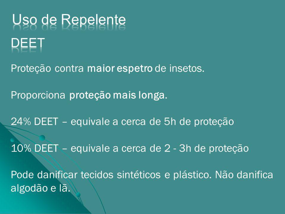 Proteção contra maior espetro de insetos.Proporciona proteção mais longa.