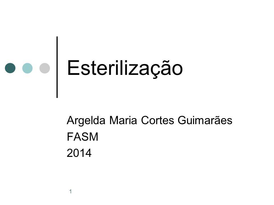 1 Esterilização Argelda Maria Cortes Guimarães FASM 2014