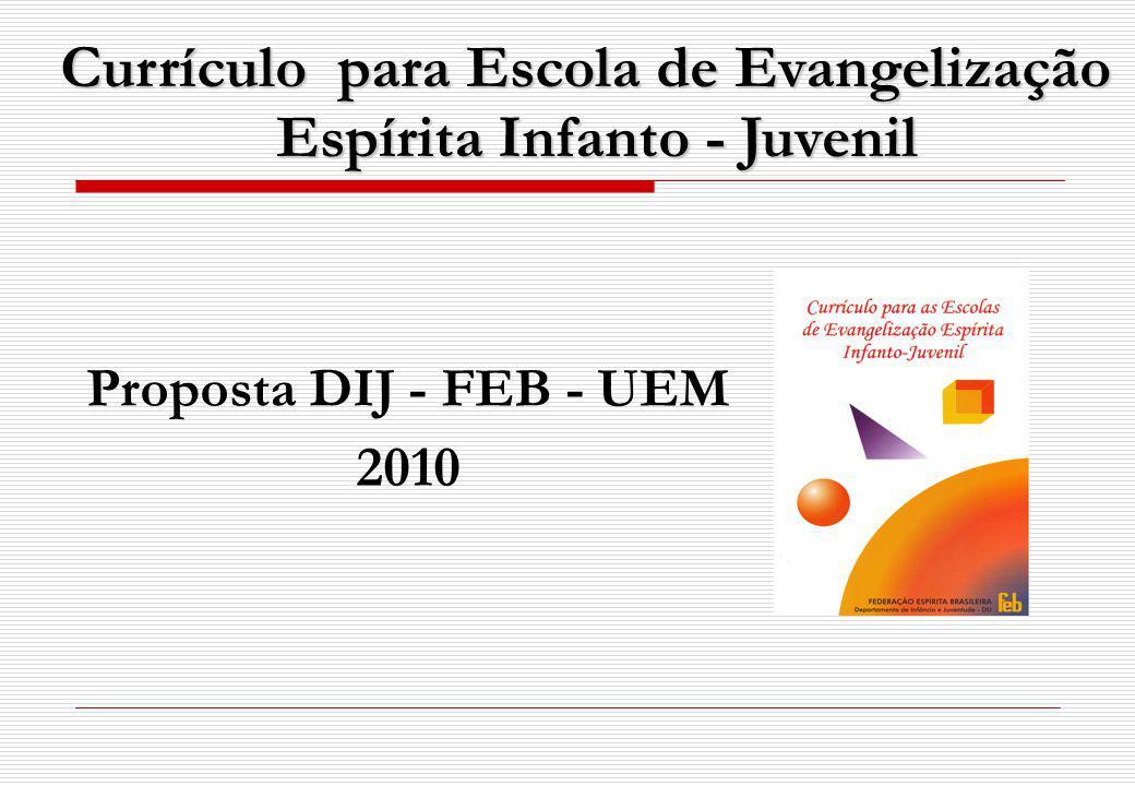 Currículo para Escola de Evangelização Espírita Infanto - Juvenil Proposta DIJ - FEB - UEM 2010