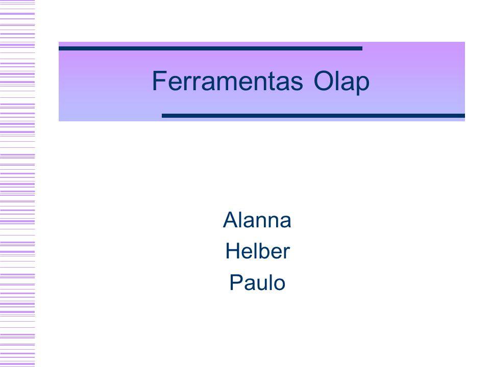 Ferramentas Olap Alanna Helber Paulo