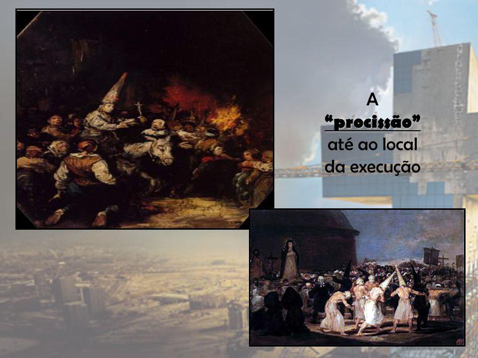 procissão A procissão até ao local da execução