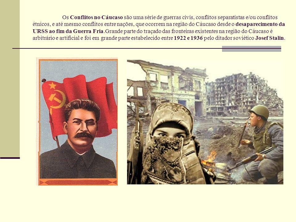 Os Conflitos no Cáucaso são uma série de guerras civis, conflitos separatistas e/ou conflitos étnicos, e até mesmo conflitos entre nações, que ocorrem