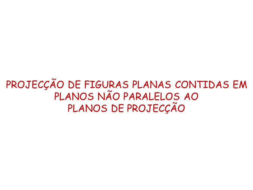 PROJECÇÃO DE FIGURAS PLANAS CONTIDAS EM PLANOS NÃO PARALELOS AO PLANOS DE PROJECÇÃO