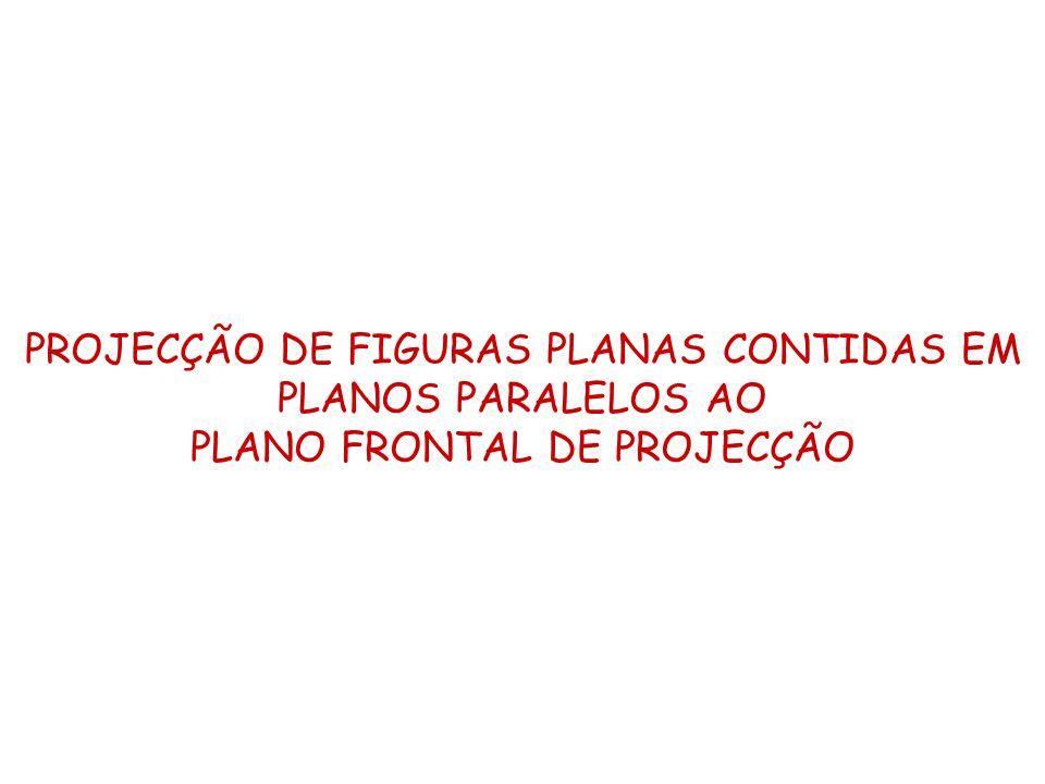 PROJECÇÃO DE FIGURAS PLANAS CONTIDAS EM PLANOS PARALELOS AO PLANO FRONTAL DE PROJECÇÃO