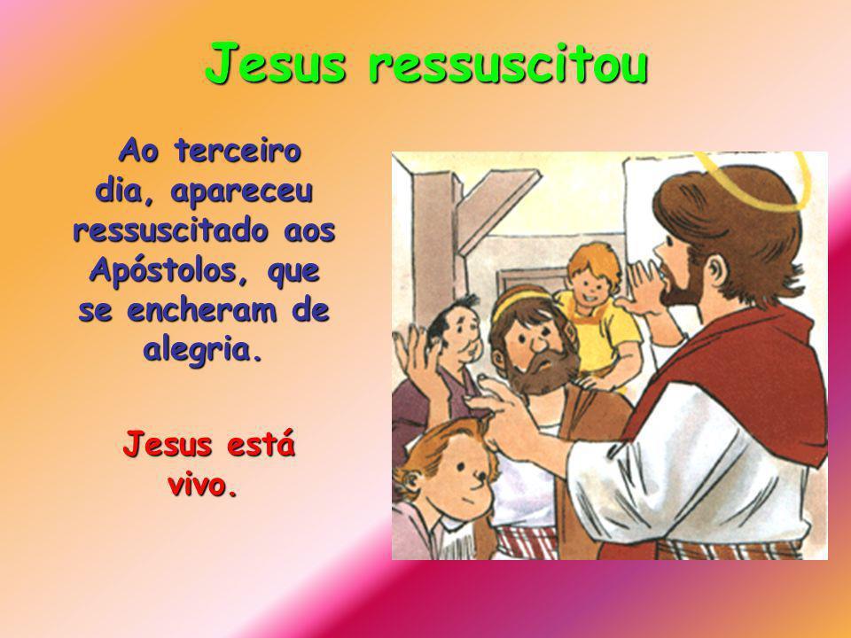 Jesus morreu na Cruz Junto d Ele estavam a Sua Mãe e João.