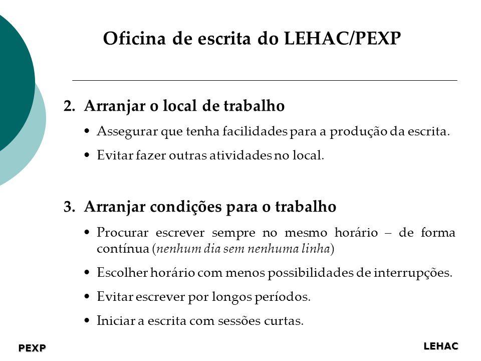 LEHAC PEXP Oficina de escrita do LEHAC/PEXP 2.