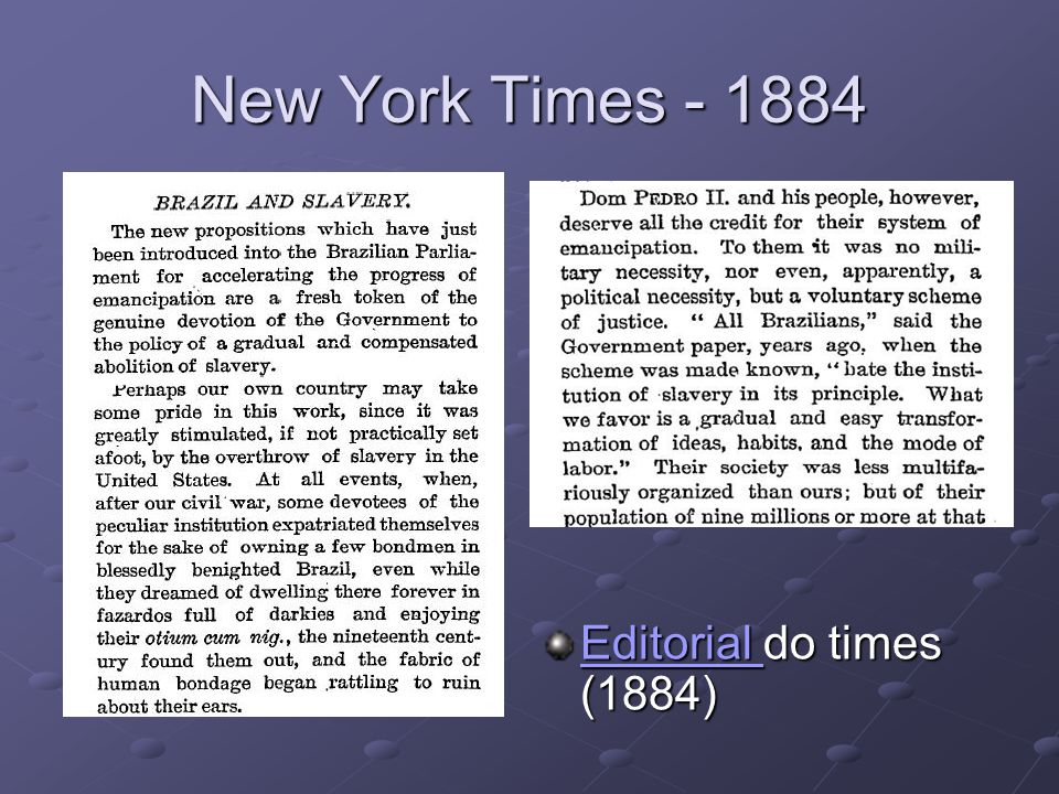 New York Times - 1884 Editorial Editorial do times (1884) Editorial