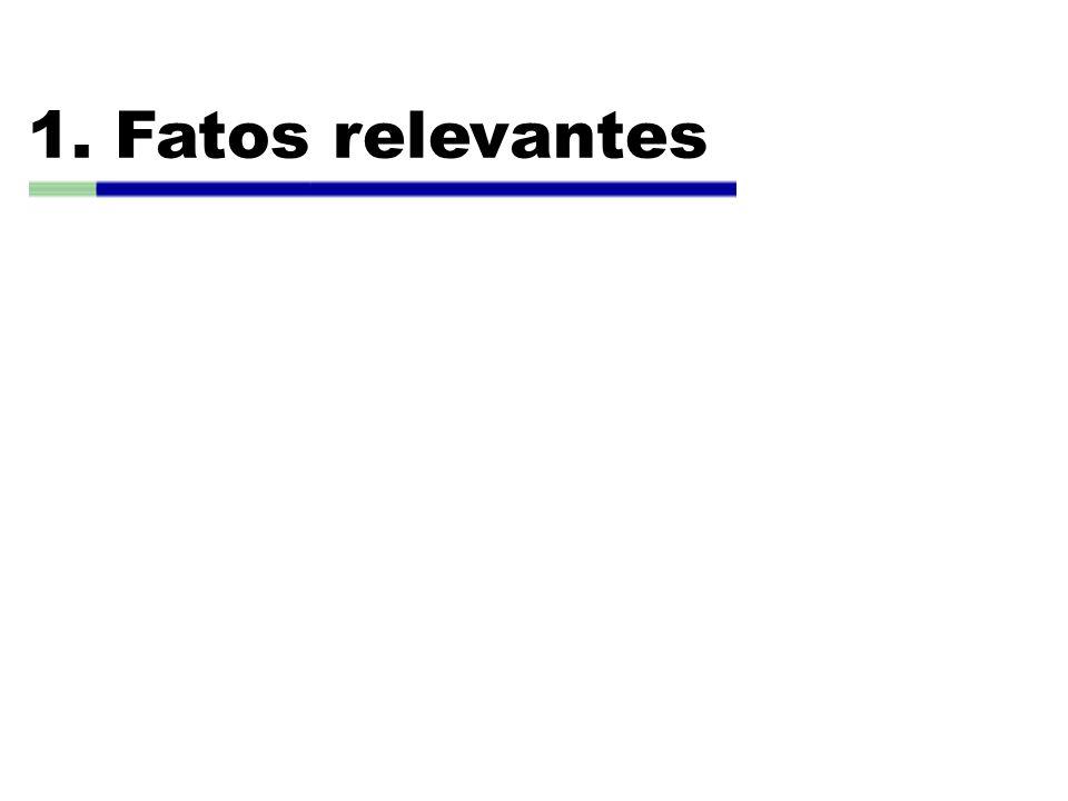 1. Fatos relevantes