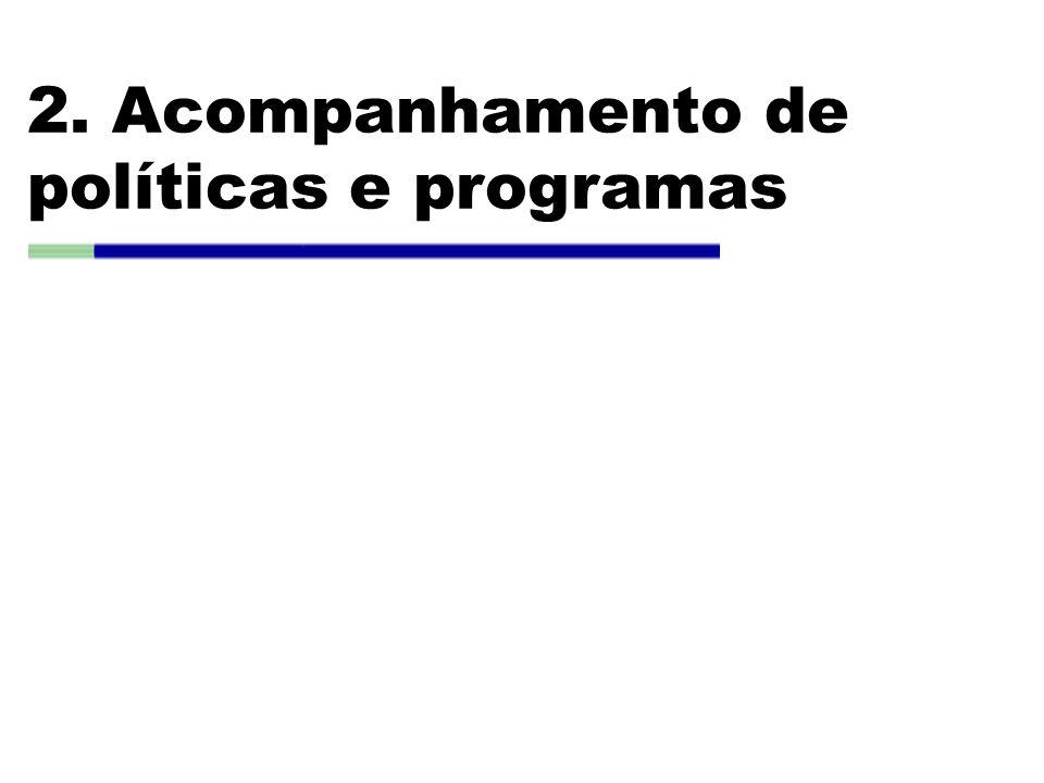 2. Acompanhamento de políticas e programas