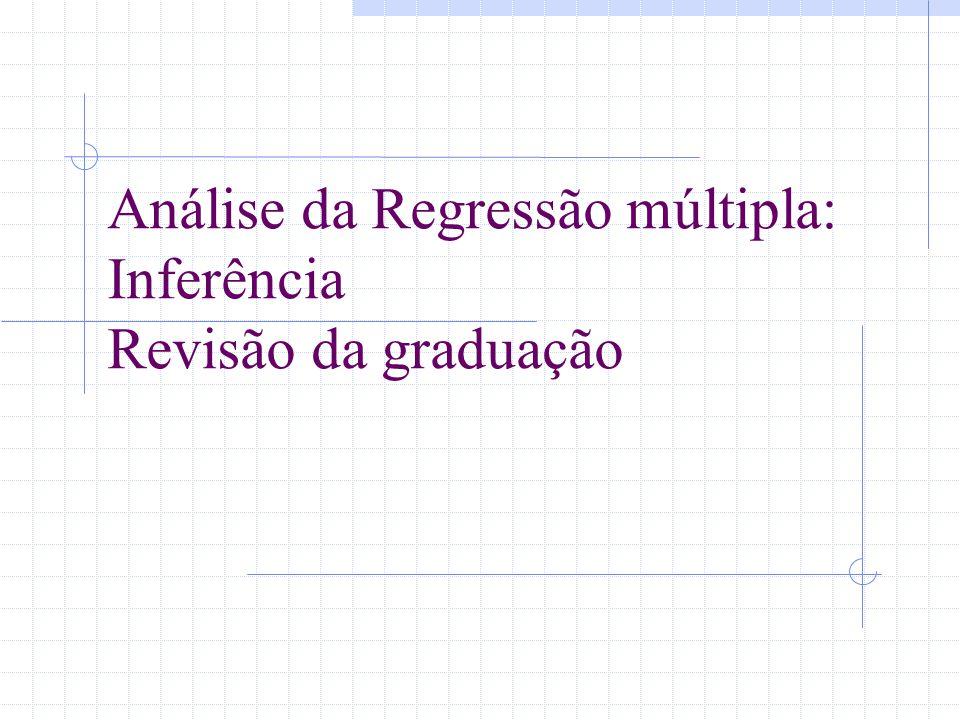 Análise da Regressão múltipla: Inferência Revisão da graduação