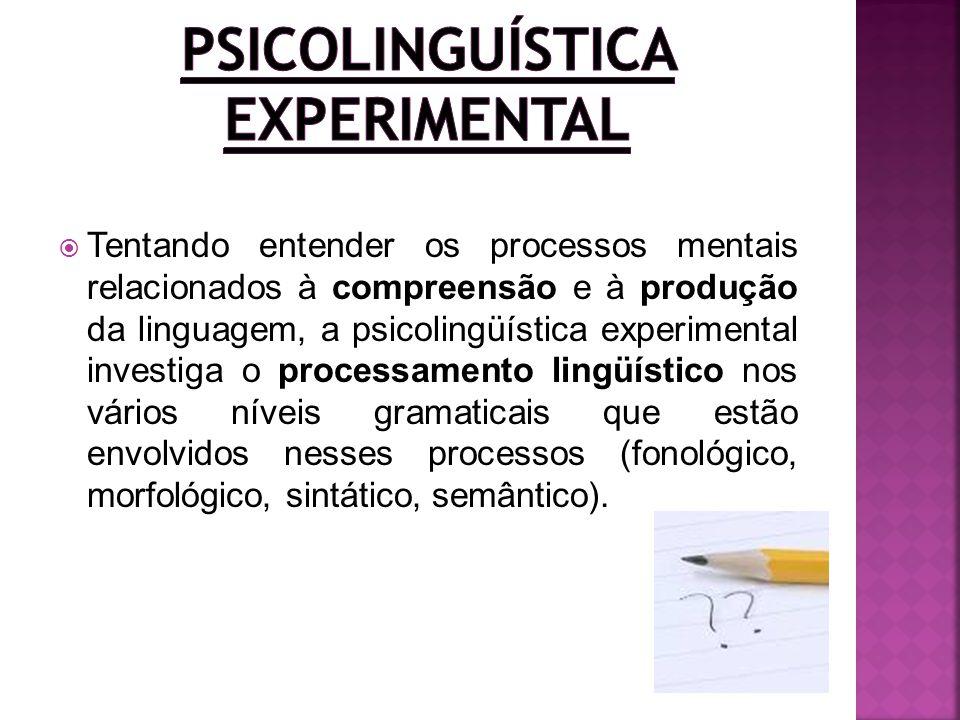 Tentando entender os processos mentais relacionados à compreensão e à produção da linguagem, a psicolingüística experimental investiga o processamento