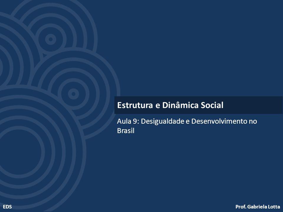 Prof. Gabriela LottaEDS Aula 9: Desigualdade e Desenvolvimento no Brasil Estrutura e Dinâmica Social