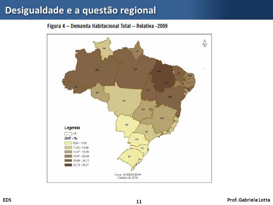 Prof. Gabriela LottaEDS Desigualdade e a questão regional 11