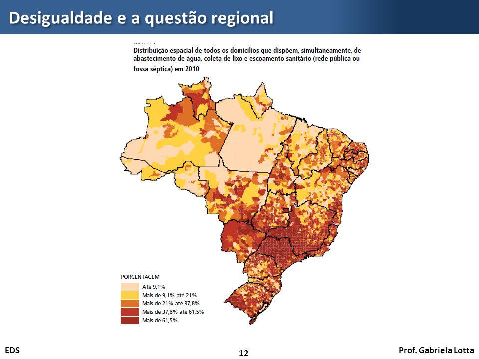 Prof. Gabriela LottaEDS Desigualdade e a questão regional 12