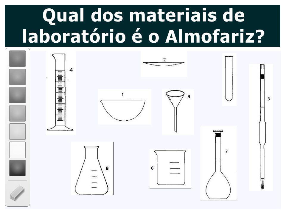 Qual dos materiais de laboratório é o Almofariz?
