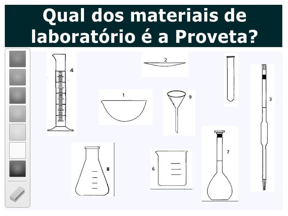 Qual dos materiais de laboratório é a Proveta?