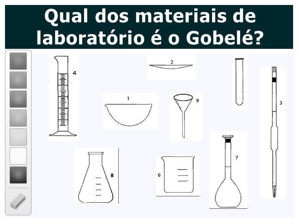 Qual dos materiais de laboratório é o Gobelé?