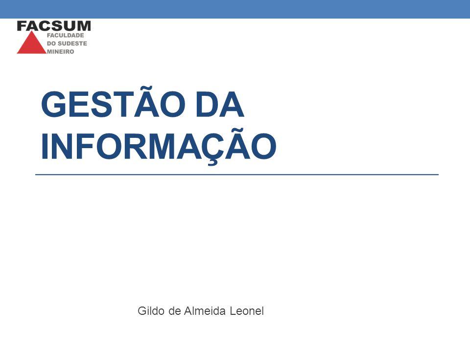GESTÃO DA INFORMAÇÃO Gildo de Almeida Leonel