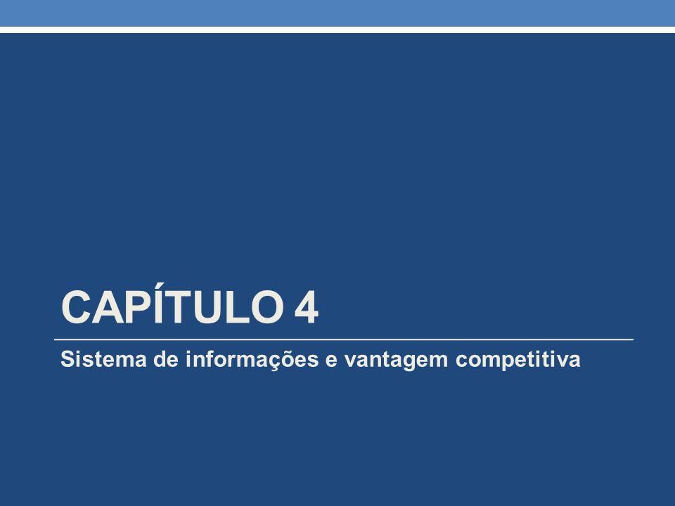 CAPÍTULO 4 Sistema de informações e vantagem competitiva