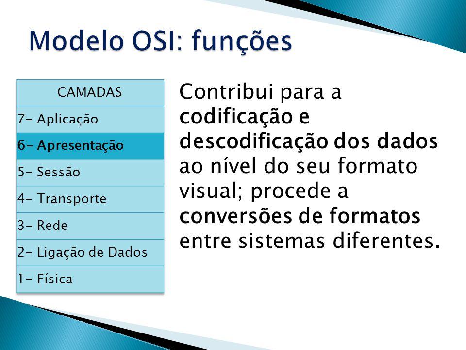 Contribui para a codificação e descodificação dos dados ao nível do seu formato visual; procede a conversões de formatos entre sistemas diferentes.
