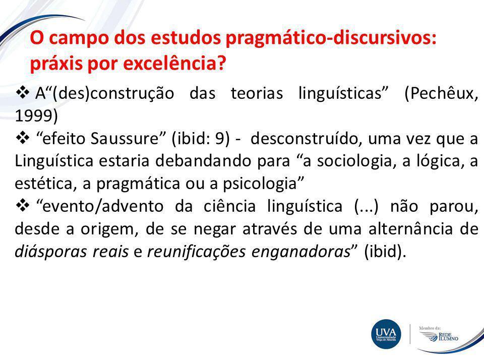TÓPICO XXX Textos e imagens O campo dos estudos pragmático-discursivos: práxis por excelência.