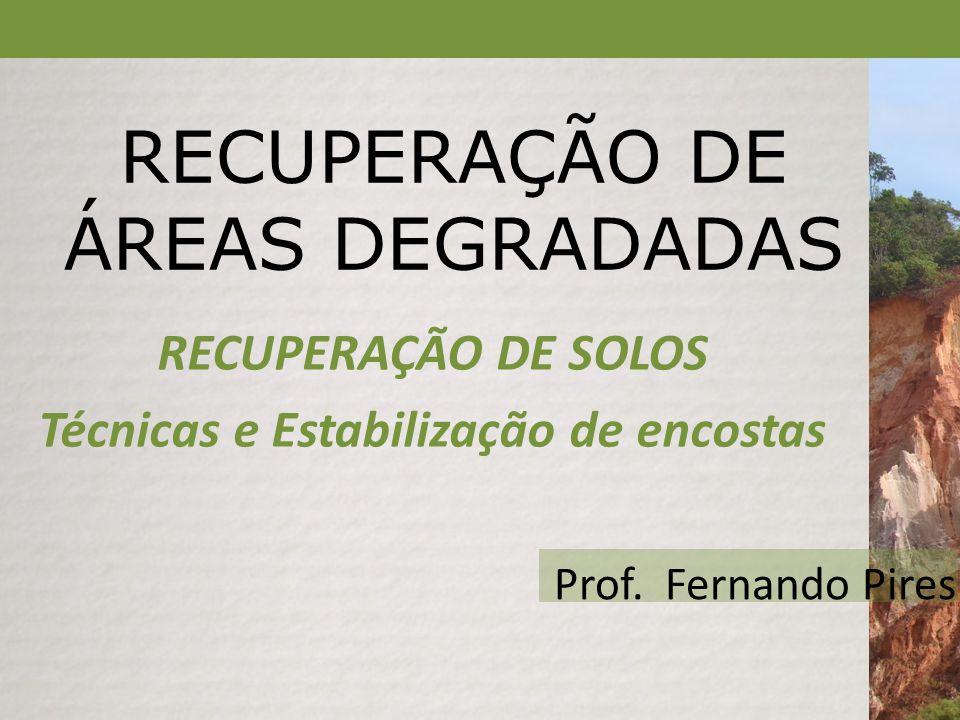 ESCORREGAMENTO EM CORTE / ATERRO Aula 5 – Processos de Recuperação do Solo Estabilização de Encostas