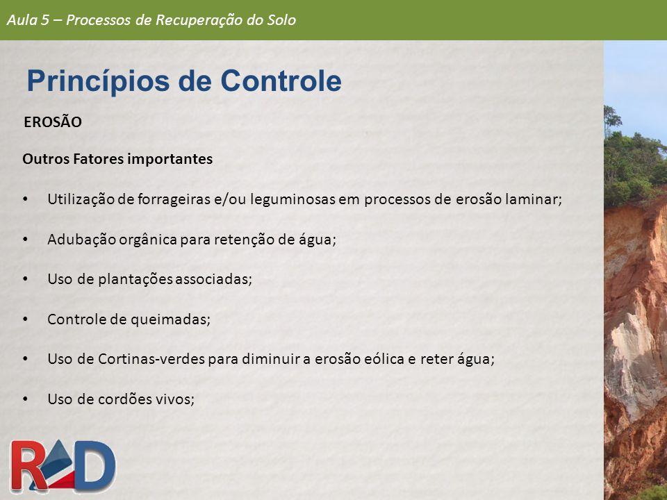 Aula 5 – Processos de Recuperação do Solo Estabilização de Encostas INFILTRAÇÃO DE ÁGUA