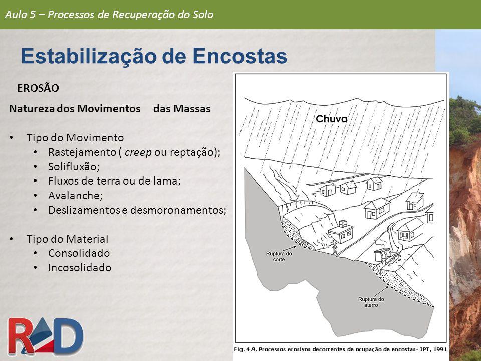 DETERIORAÇÃO QUÍMICA Ações Básicas Análise do solo; Calagem e adubação química; Adubação verde e compostagem; Rotação de culturas.