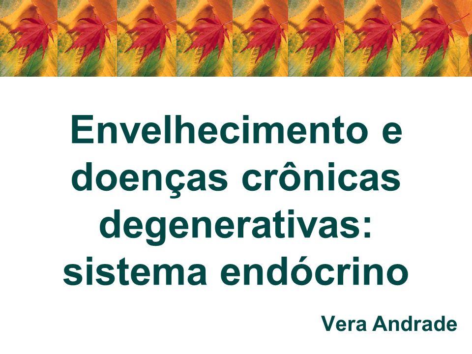 GH – Hormônio do crescimento Metabolismo dos carboidratos, lipídeos e proteínas em todas as idades e é fundamental na manutenção da composição corpórea Indivíduos adultos com deficiência de GH apresentam –Massa corpórea < 8%; água extracelular < 15%, aumento do peso 26%, aumento da massa gordurosa subcutânea e visceral 7%, aumento da cintura-escapular –Resistência à insulina, hipertensão, baixos níveis de HDL colesterol, altos níveis de triglicérides –Apresentam prevalência de arteriosclerose, comprometimento da função cardíaca