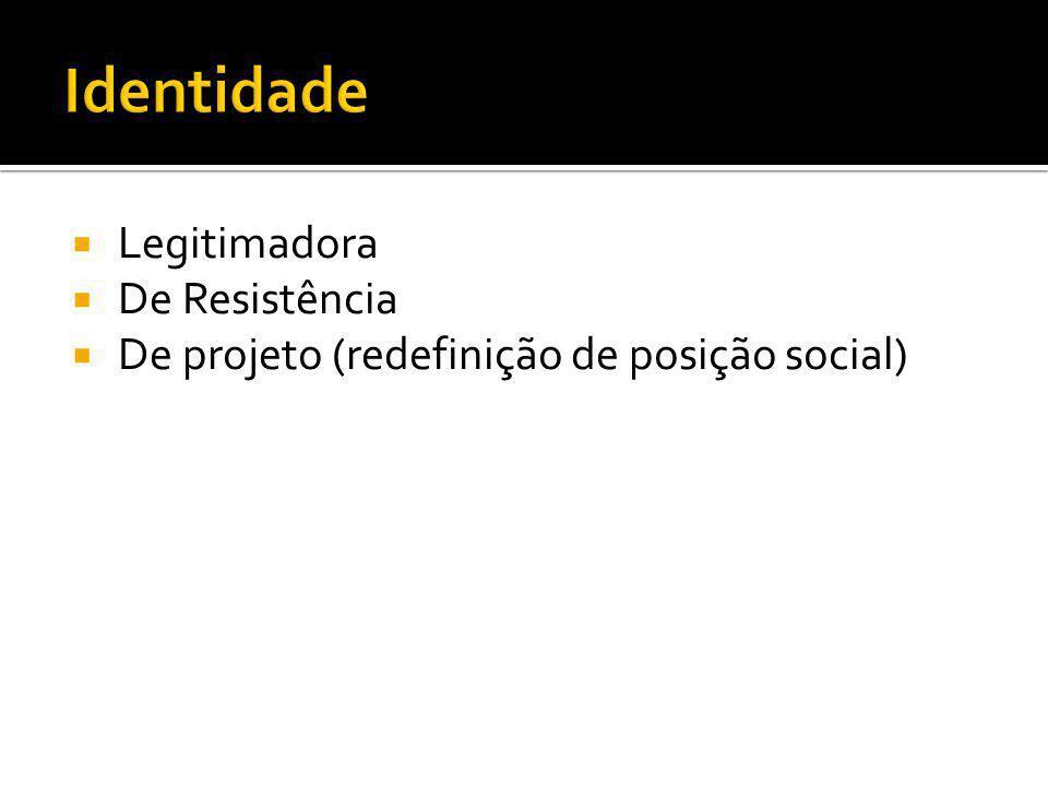Legitimadora De Resistência De projeto (redefinição de posição social)