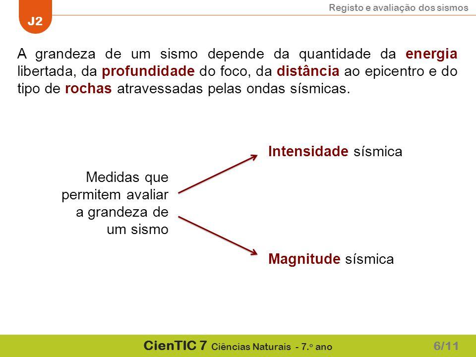 Registo e avaliação dos sismos J2 CienTIC 7 Ciências Naturais - 7.