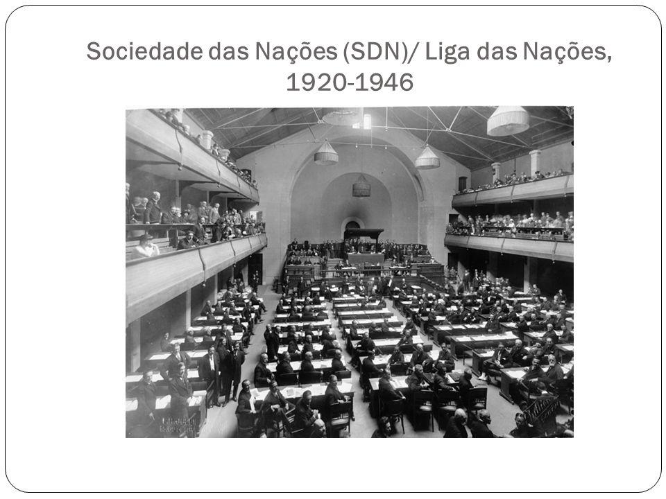Sociedade das Nações (SDN)/ Liga das Nações, 1920-1946