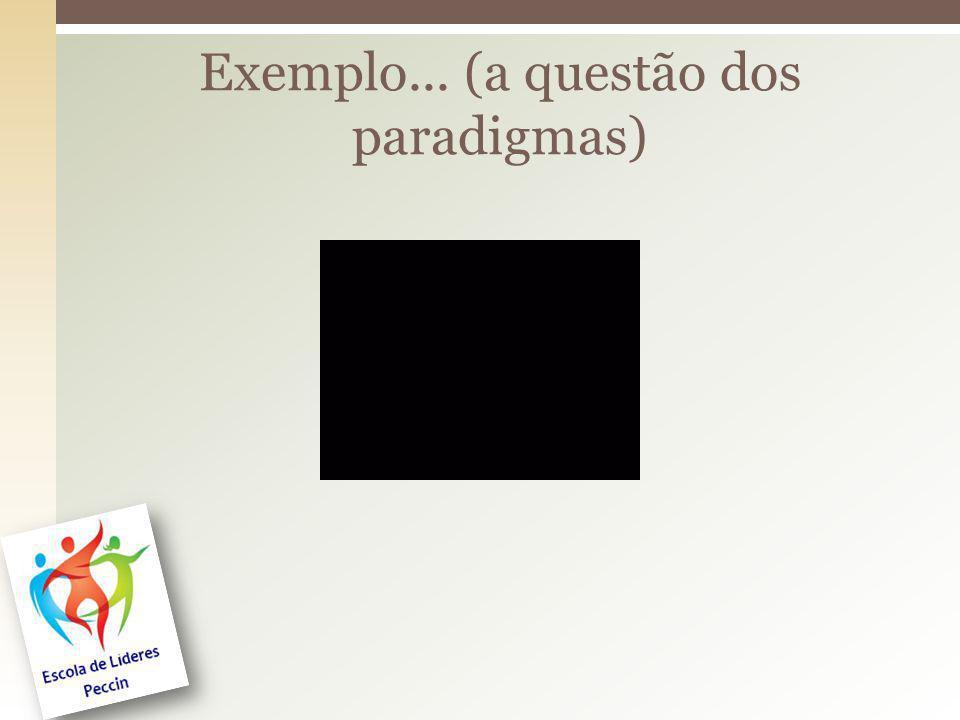 Exemplo... (a questão dos paradigmas)