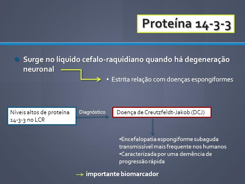 Surge no líquido cefalo-raquidiano quando há degeneração neuronal Surge no líquido cefalo-raquidiano quando há degeneração neuronal Estrita relação co