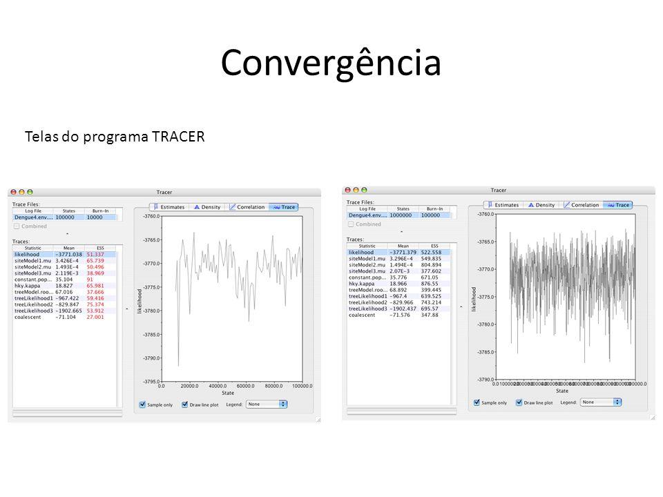 Convergência Telas do programa TRACER