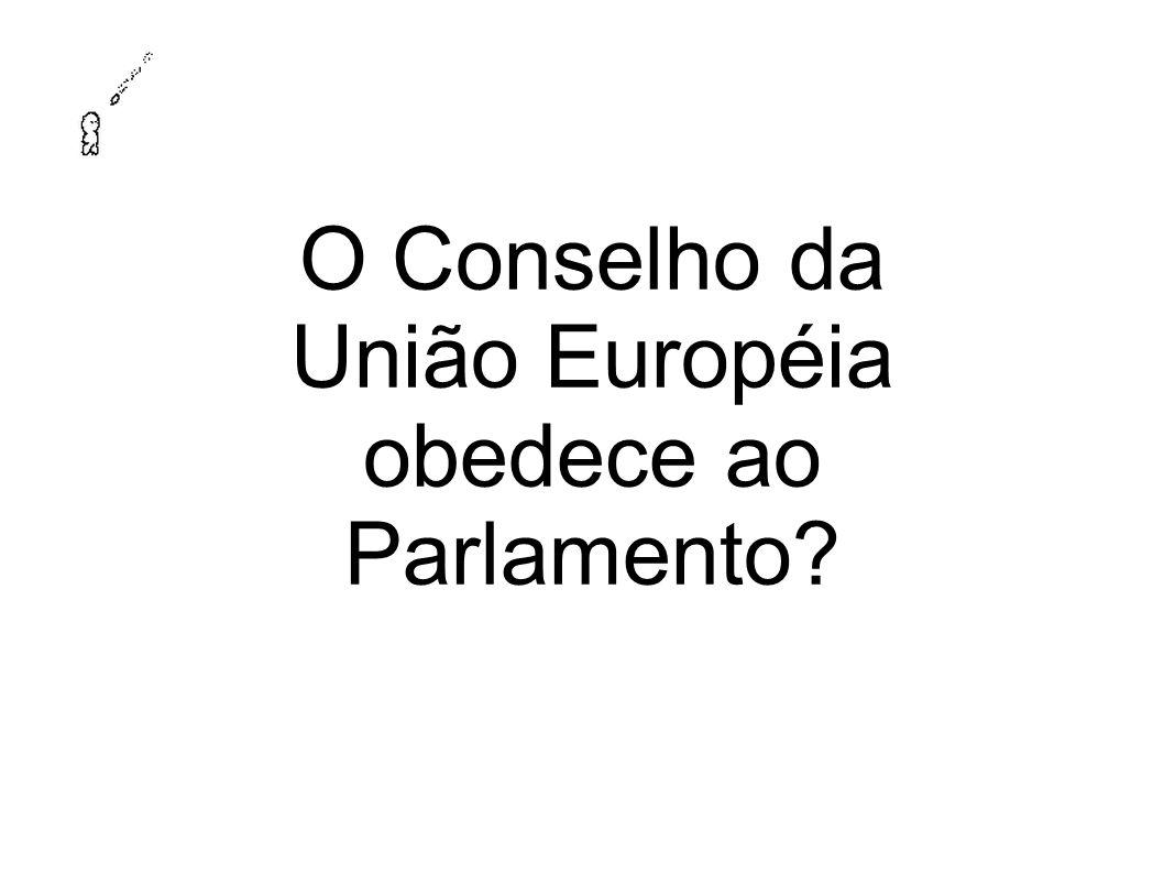 O Conselho da União Européia obedece ao Parlamento?