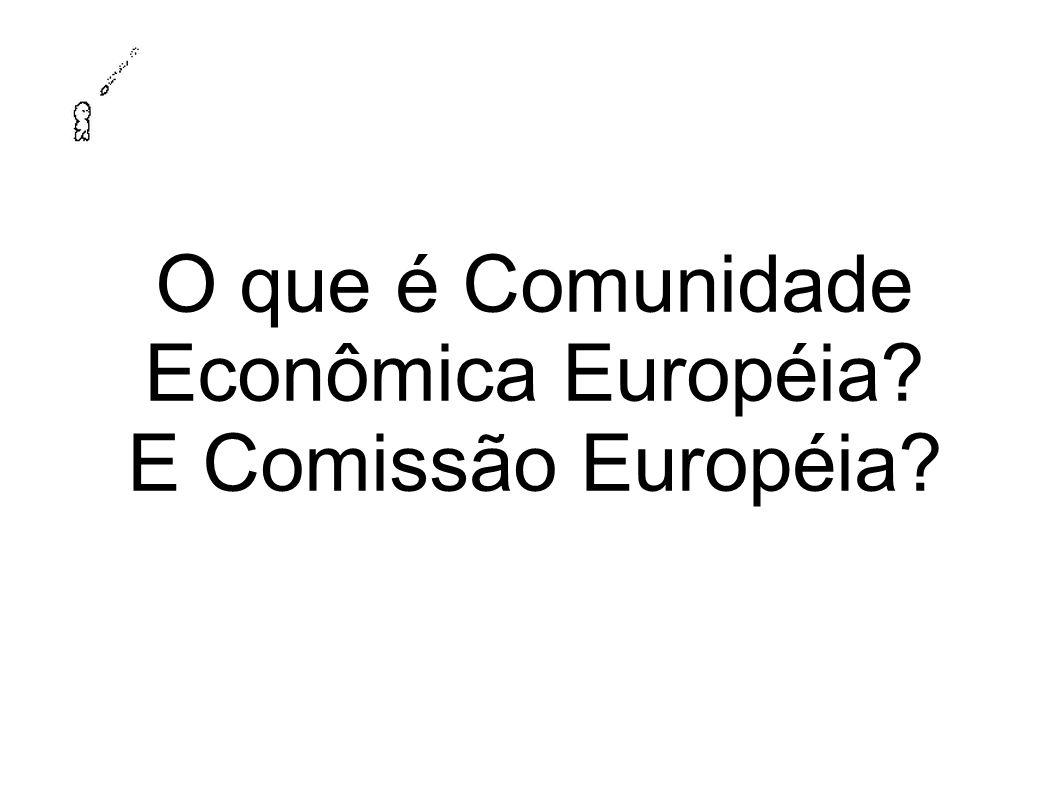 O que é Comunidade Econômica Européia? E Comissão Européia?
