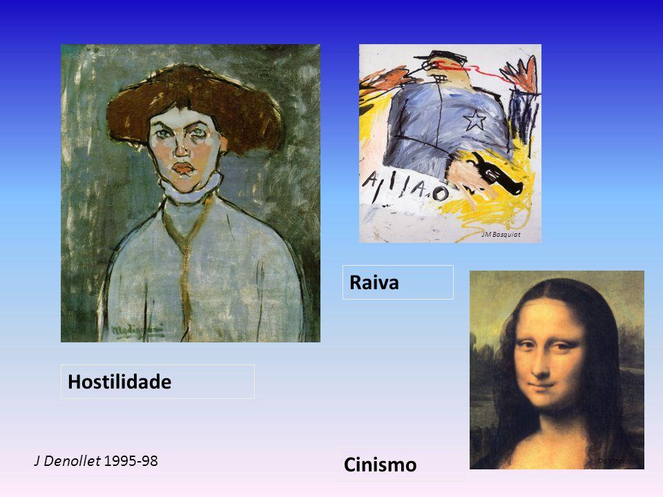 Hostilidade Raiva Cinismo J Denollet 1995-98 Da Vinci JM Basquiat