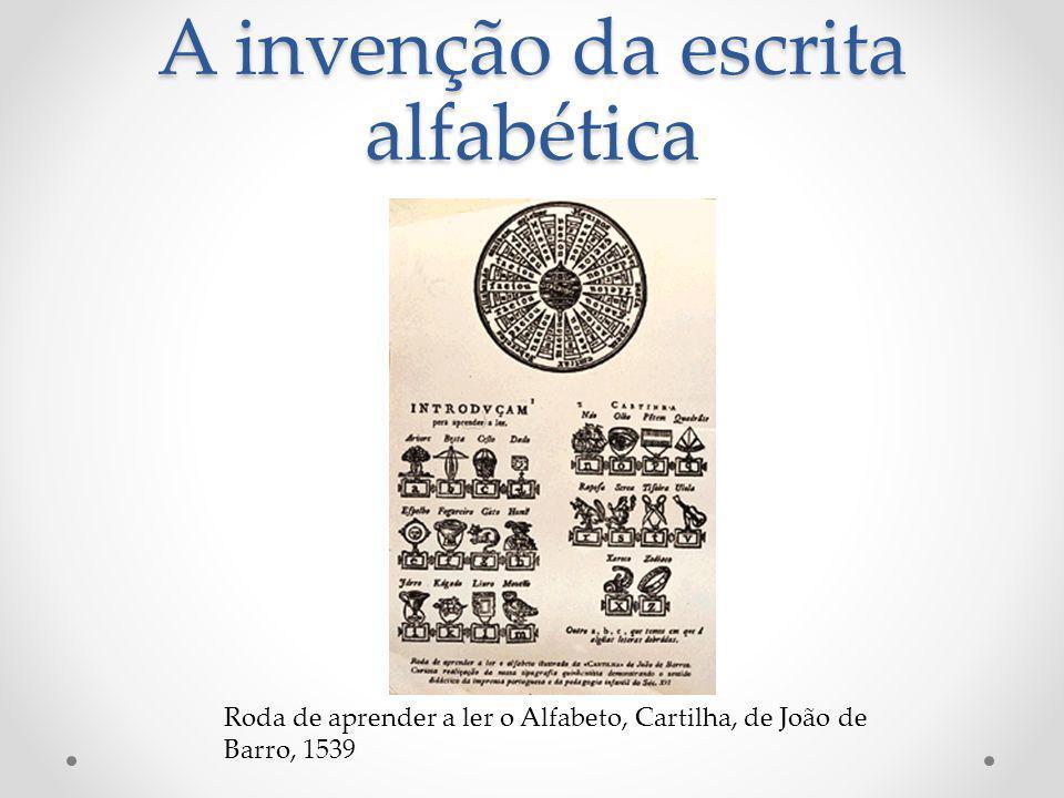 A invenção da escrita alfabética Roda de aprender a ler o Alfabeto, Cartilha, de João de Barro, 1539