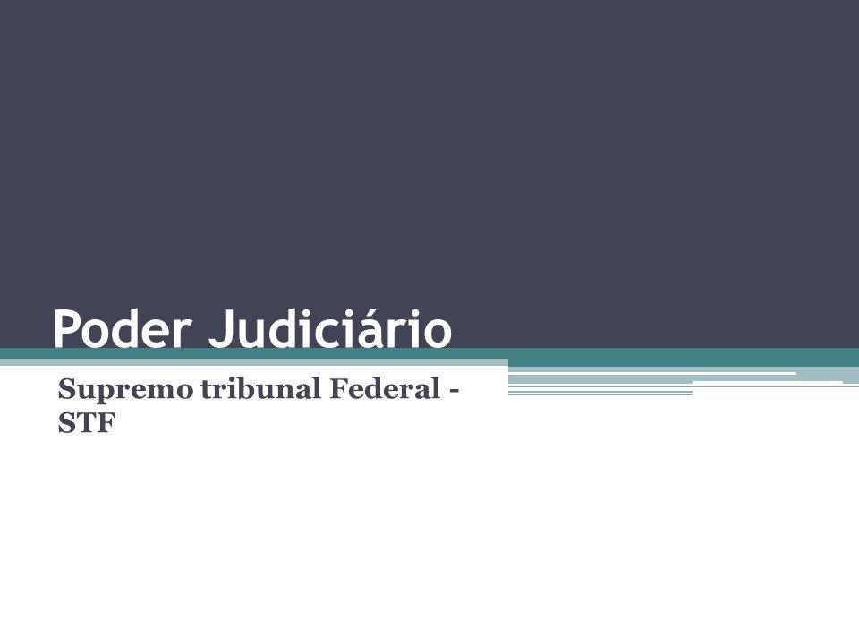 Poder Judiciário Supremo tribunal Federal - STF