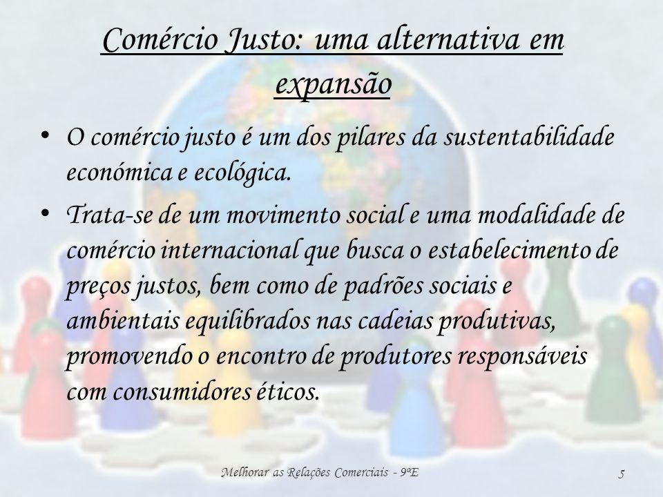 Comércio Justo: uma alternativa em expansão O comércio justo é um dos pilares da sustentabilidade económica e ecológica.