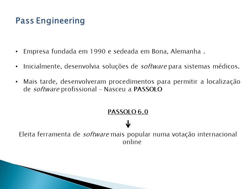Pass Engineering Empresa fundada em 1990 e sedeada em Bona, Alemanha.