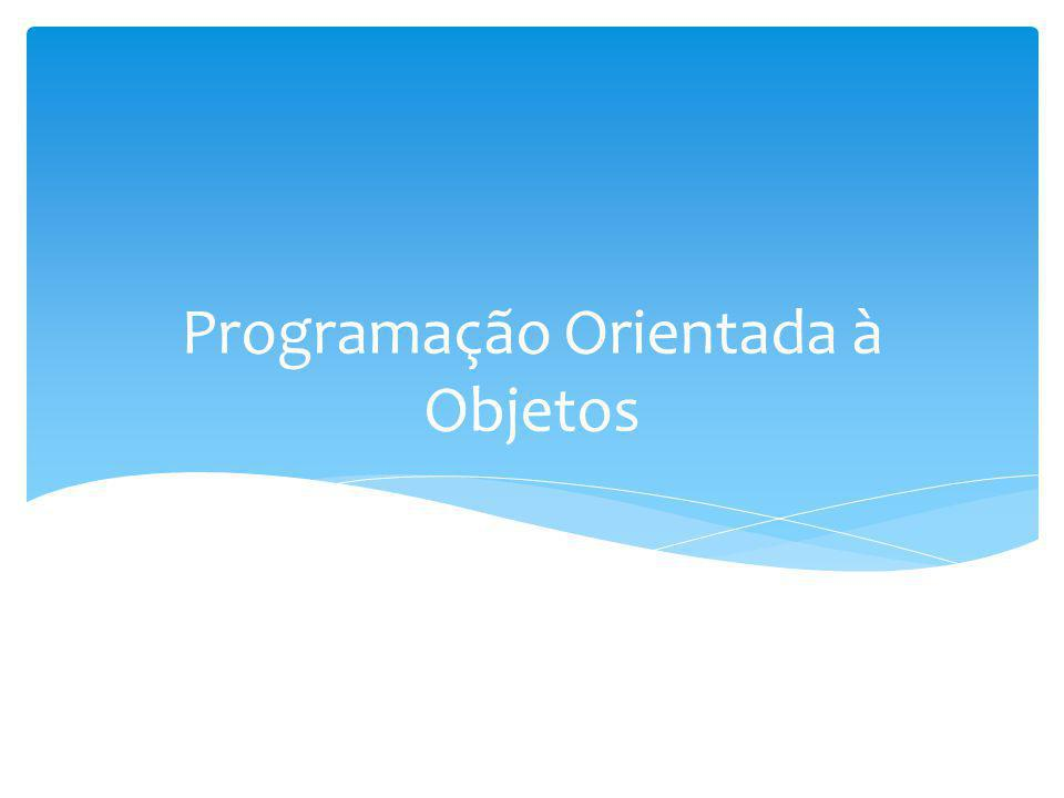 A Programação Orientada a Objetos (POO) é um paradigma de programação de computadores que usa os conceitos de Objetos e Classes como elementos centrais para representar e processar dados usados nos programas Segundo o dicionário Houaiss, paradigma significa modelo, padrão, exemplo.